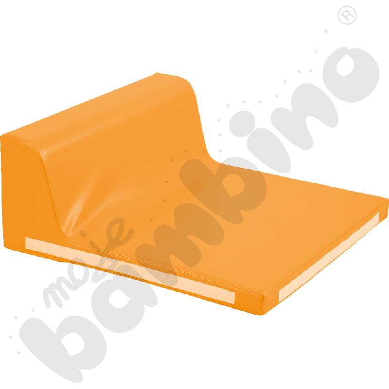 Kanapka leżaczek pomarańczowa - kształtka rehabilitacyjna