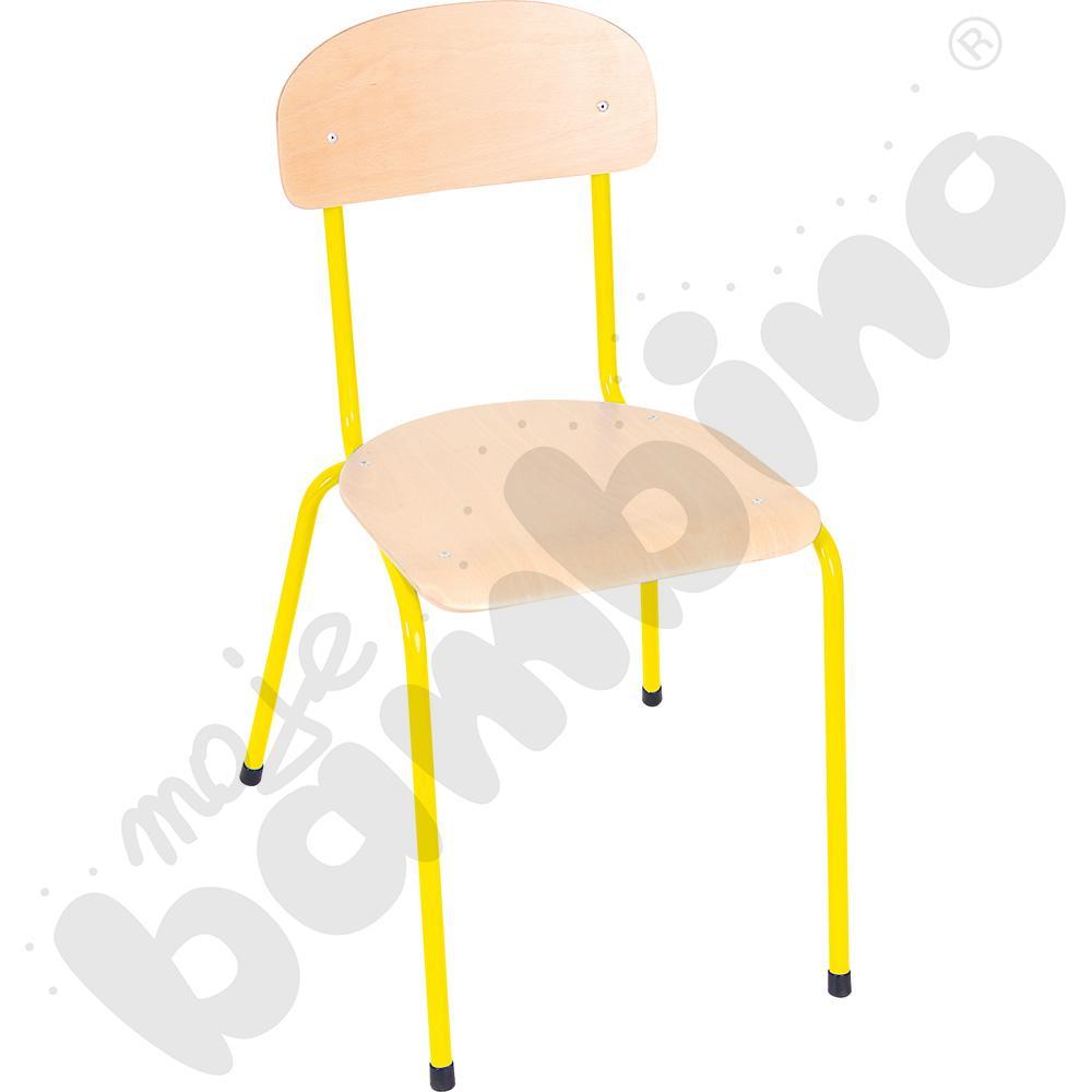 Krzesło Bambino rozm. 6 żółte