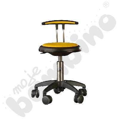Krzesło Genito z oparciem, wys. 38-48 cm - żółte