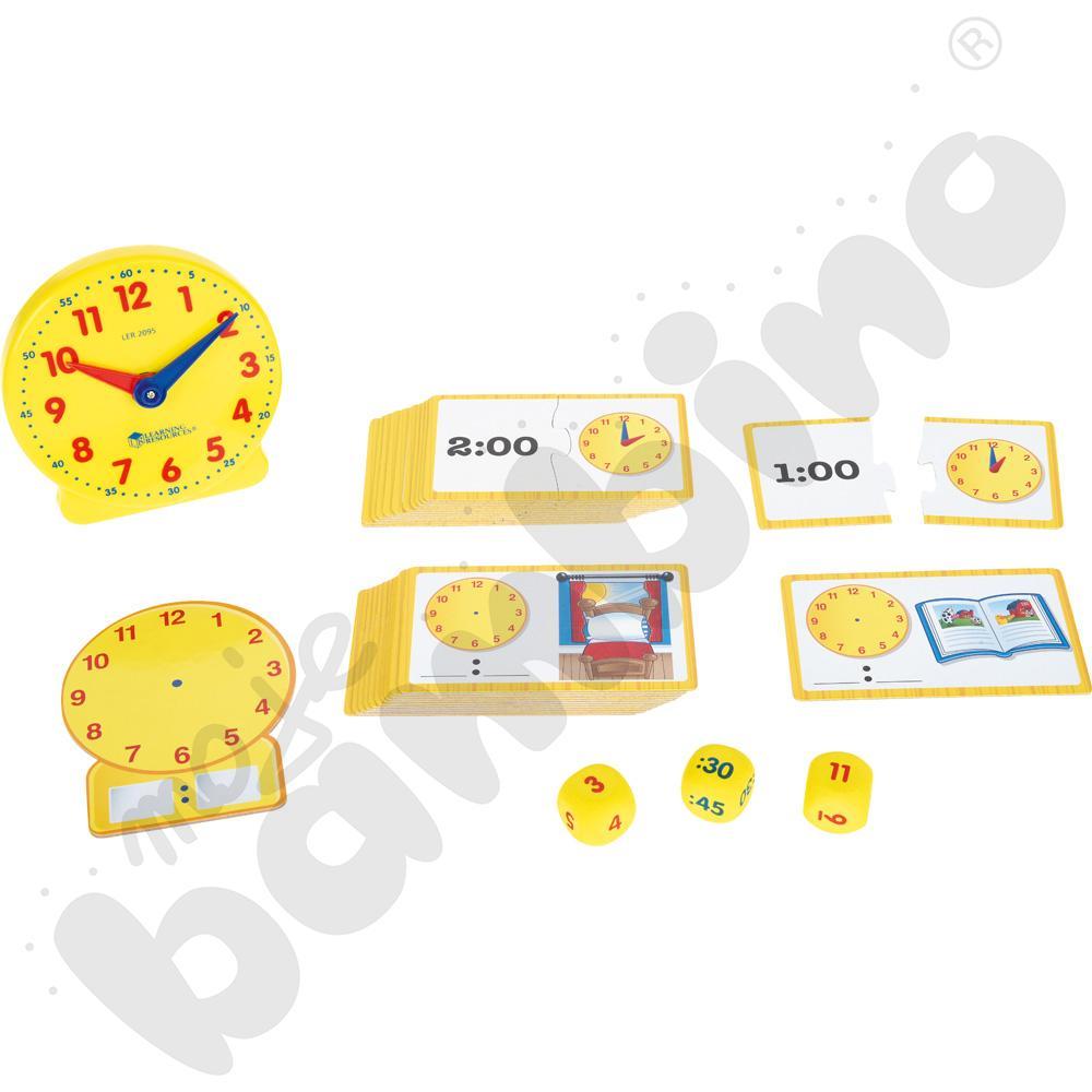 Nauka czasu - zestaw z zegarem