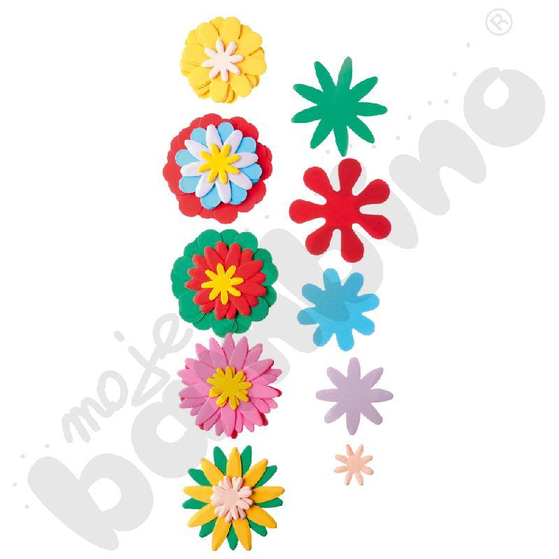Tekturowe kwiatuszki - mix...
