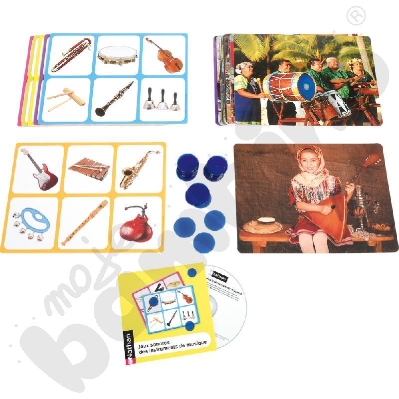 Instrumenty świata - karty obrazkowe + CD