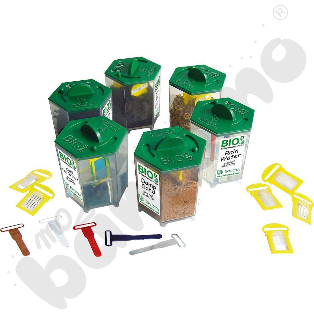 Biodegradacja - zestaw doświadczalny