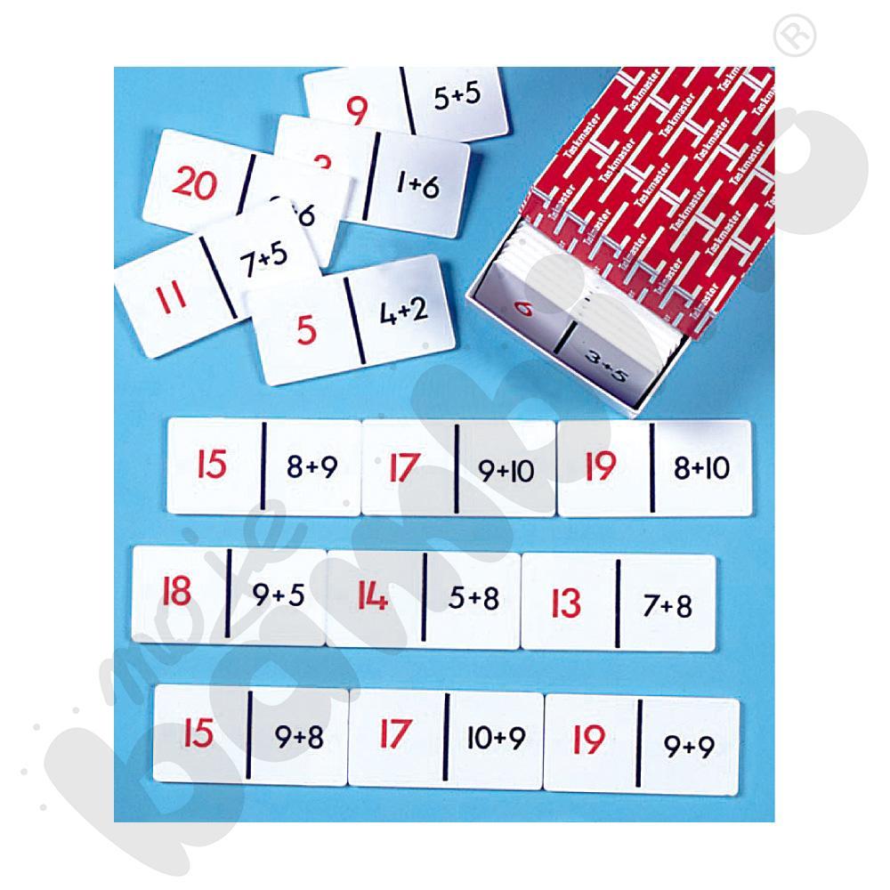 Dodawanie do 20 - domino