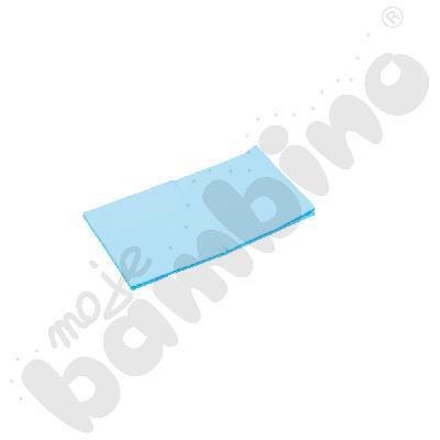 Prześcieradło z gumką (na materac) niebieskie wym. 140 x 70 cm