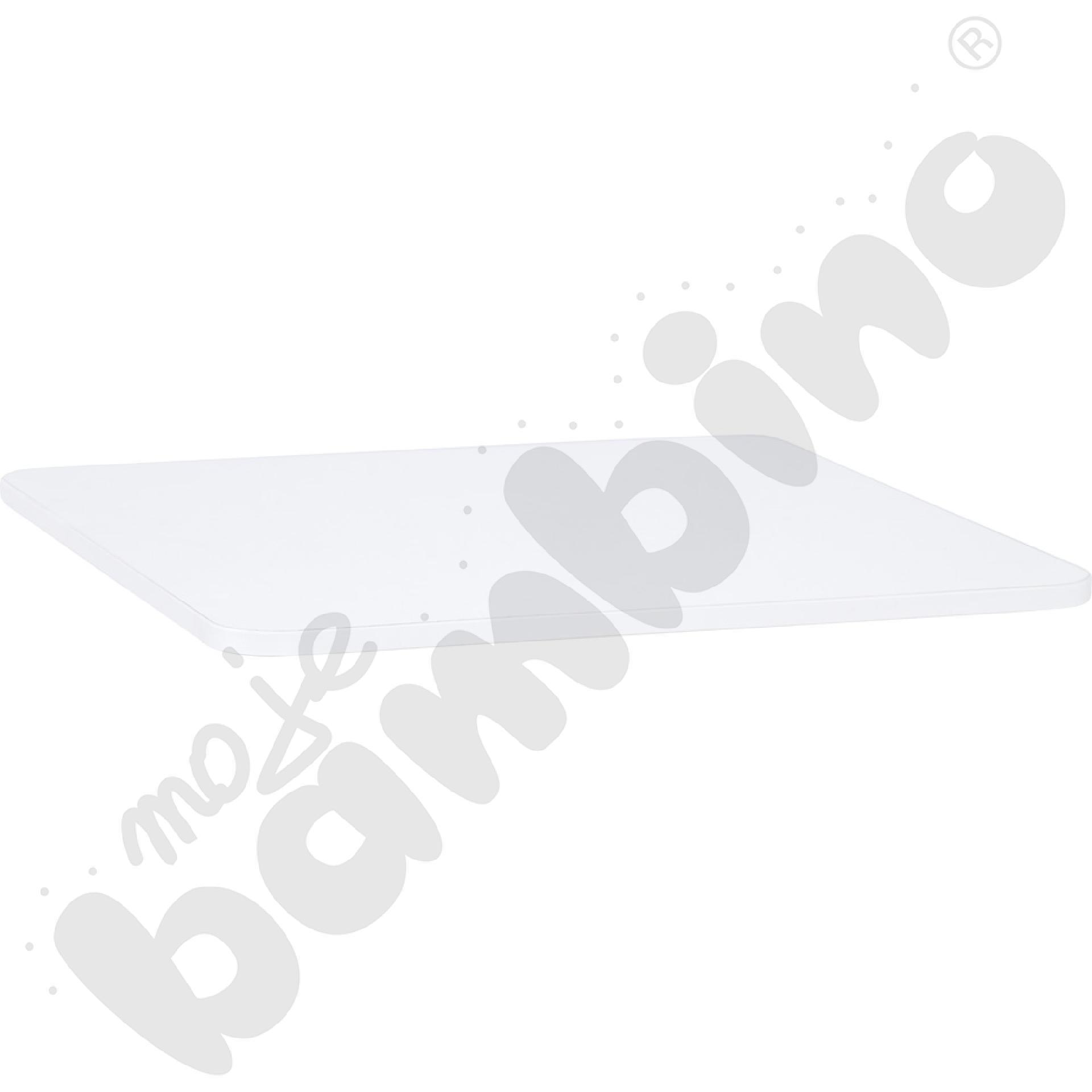 Blat Quadro biały kwadratowy, białe obrzeże