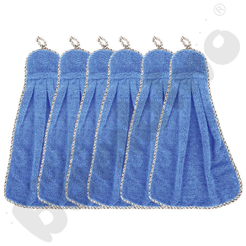 Ręczniki niebieskie, 6 szt.
