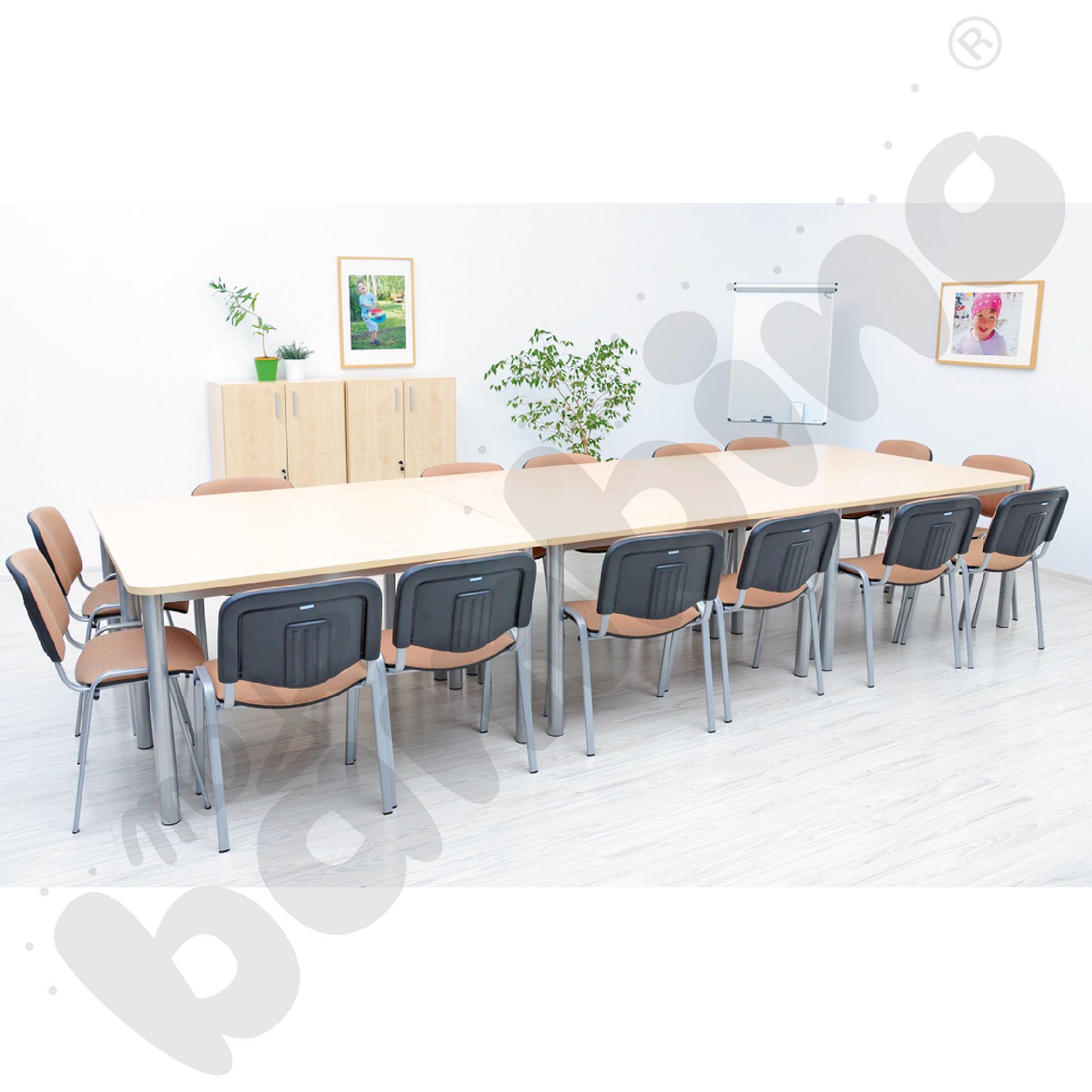 Stół konferencyjny prosty klon