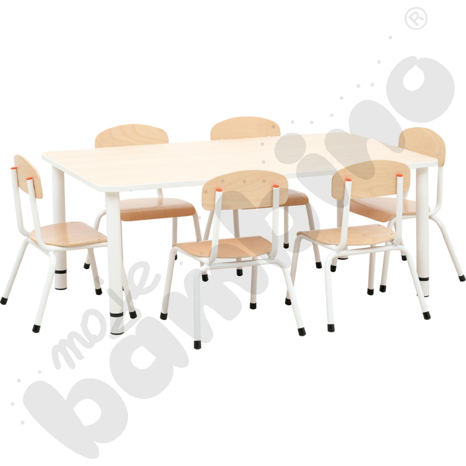 Stół Bambino z krzesłami Bambino rozm. 1