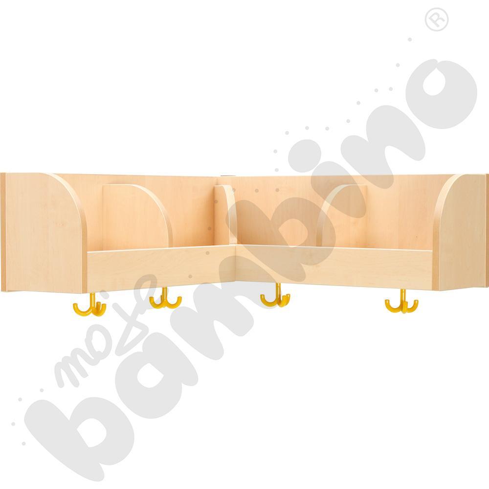 Szatnia półka Flexi rogowa 4