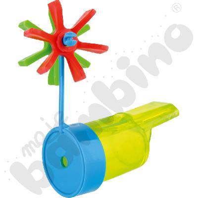 Mały gwizdek z wiatraczkiem