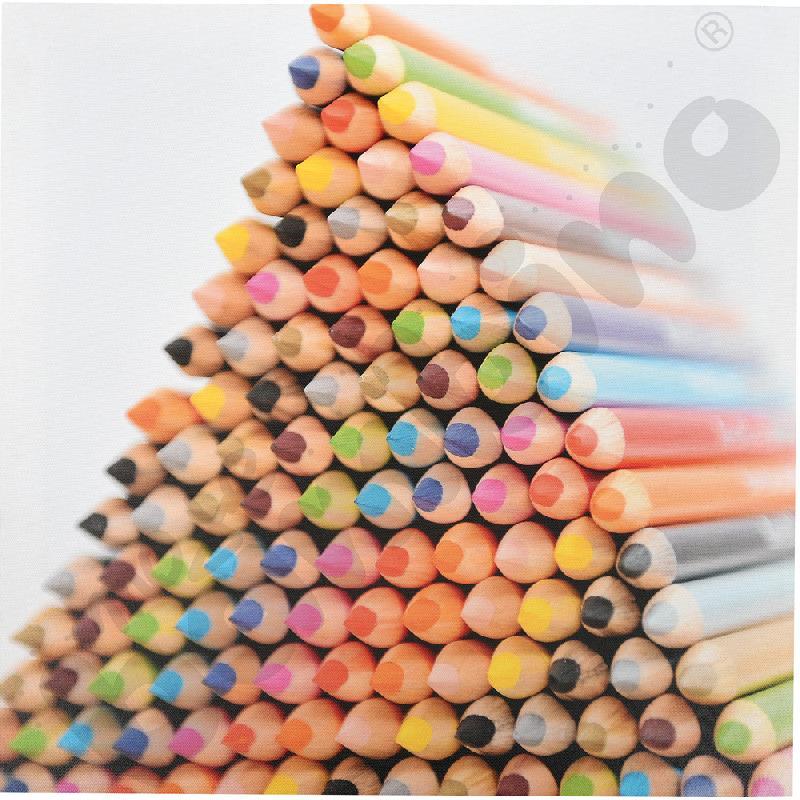 Piramida z kredek 1 - obraz