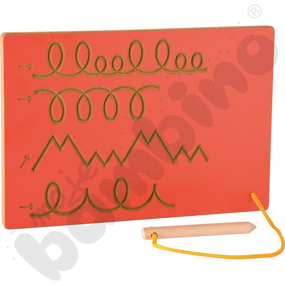 Tabliczka ze szlaczkami czerwona
