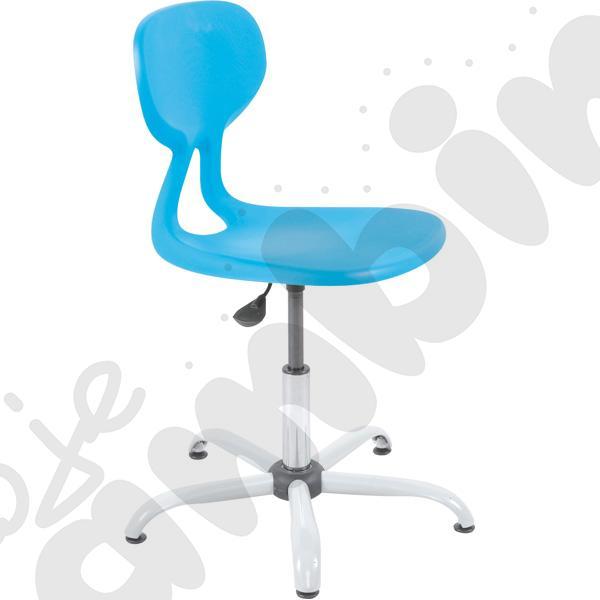 Krzesło Colores obrotowe z reg.  wys. turkusowe