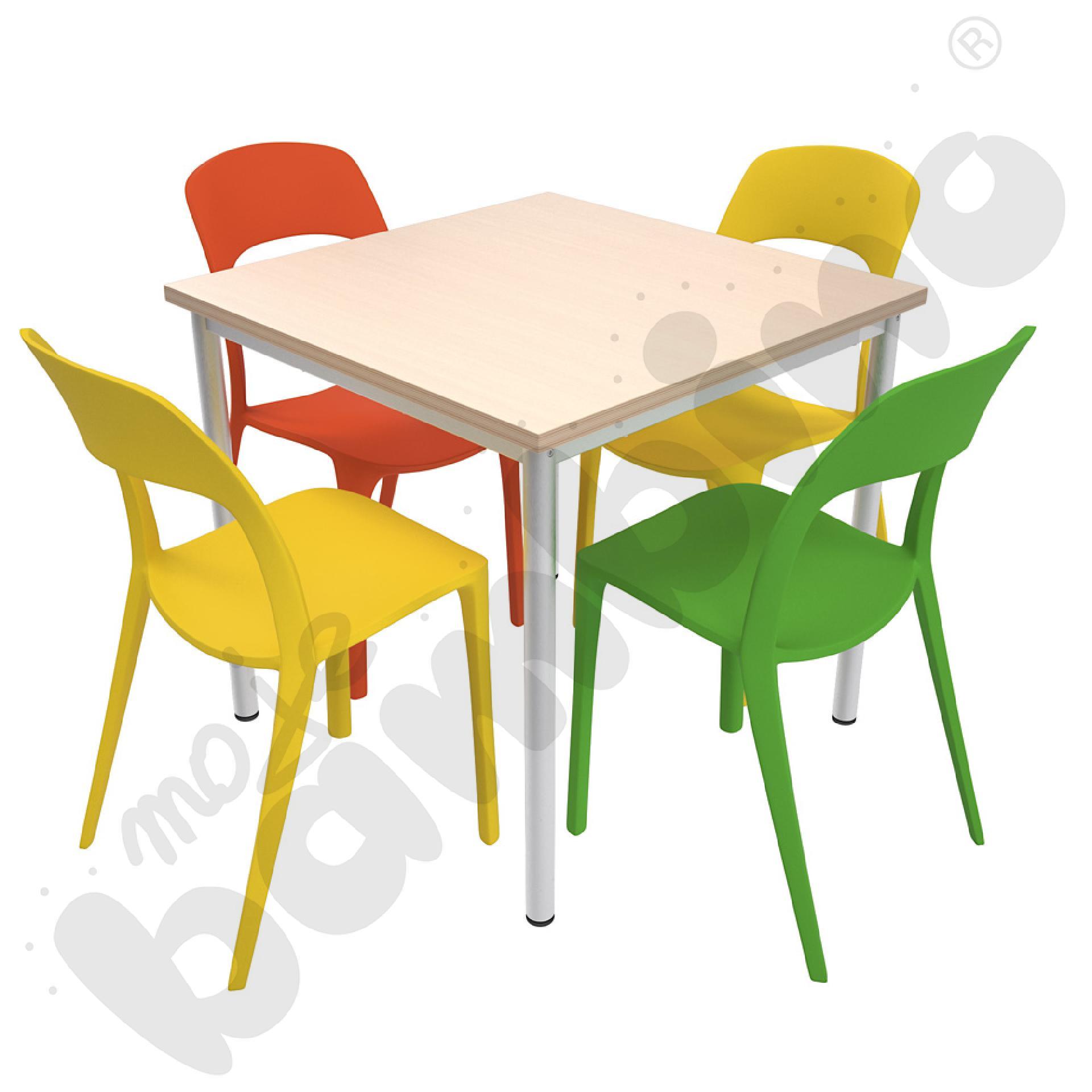 Stół Mila 80 x 80 klon z 4...