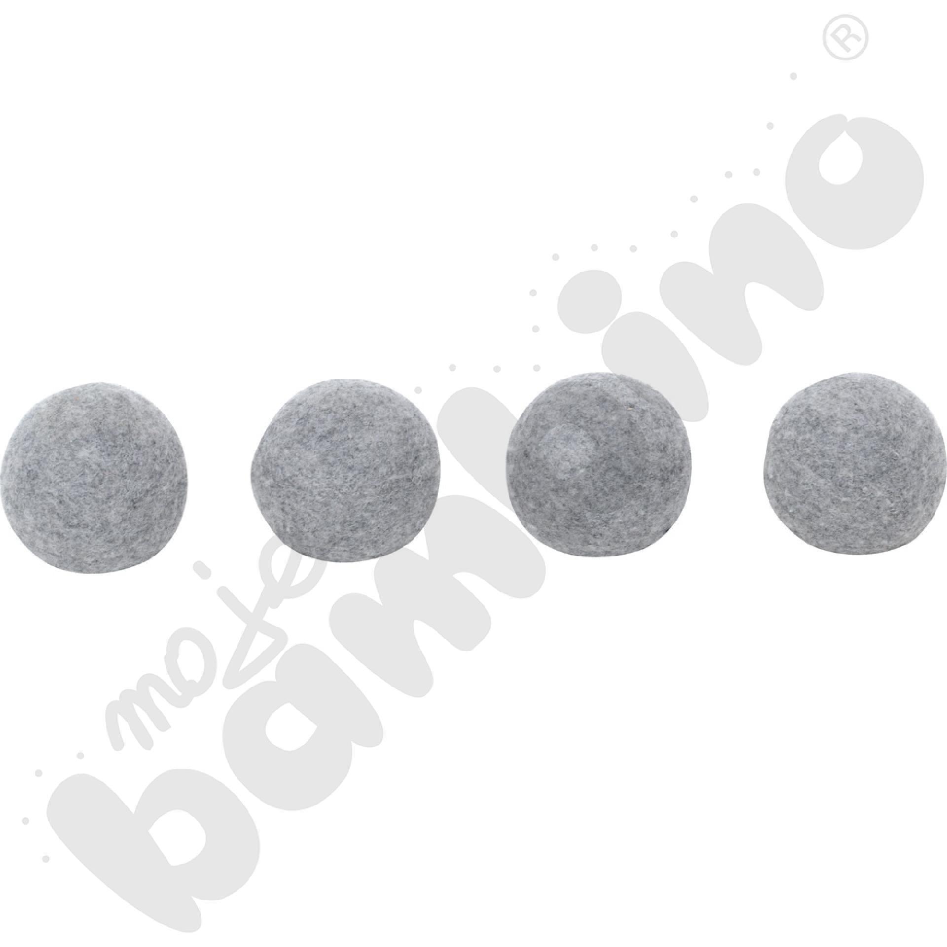 Nakładki filcowe do krzeseł - szare,  4 szt., 16-22 mm