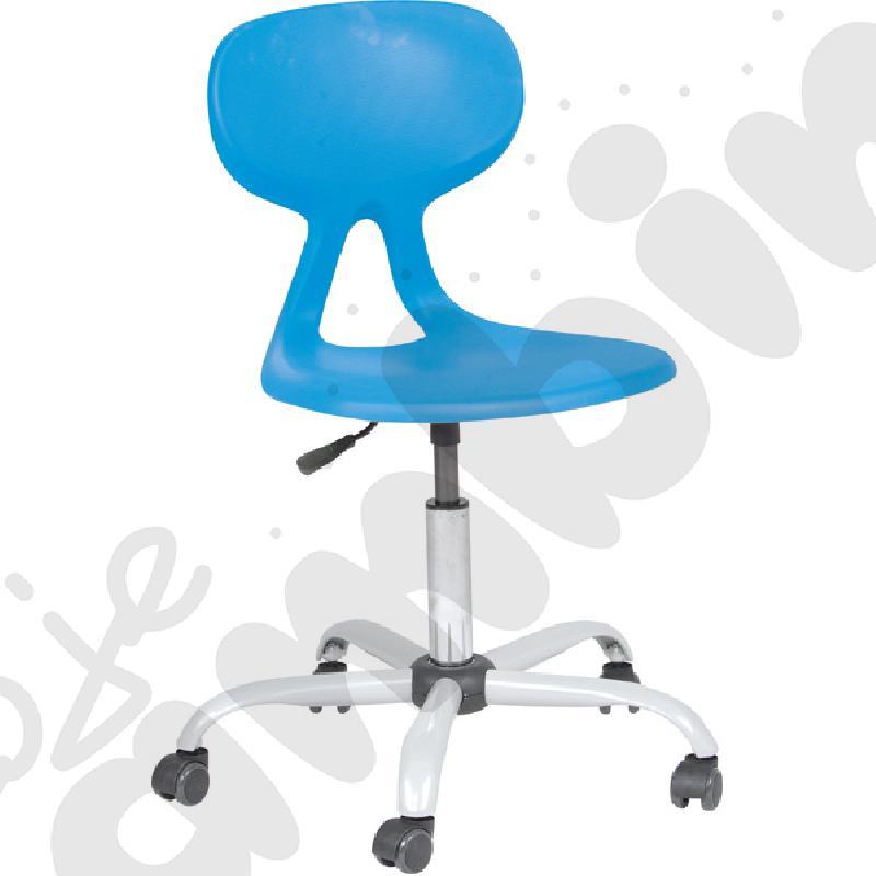 Krzesło Colores obrotowe na kółkach z reg.  wys. turkusowe
