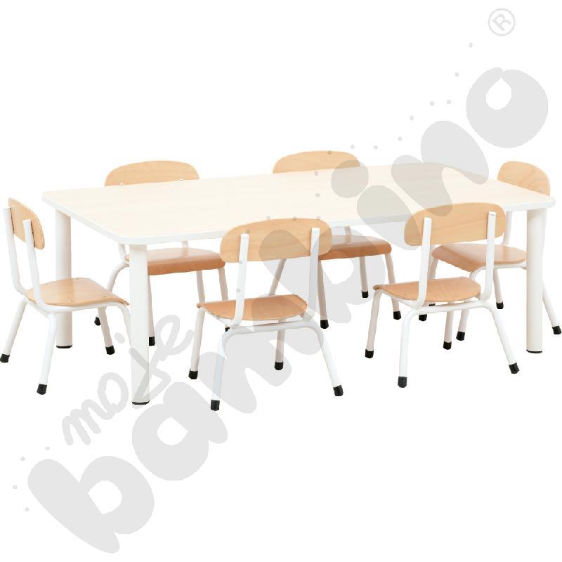 Stół Bambino z krzesłami Bambino rozm. 0