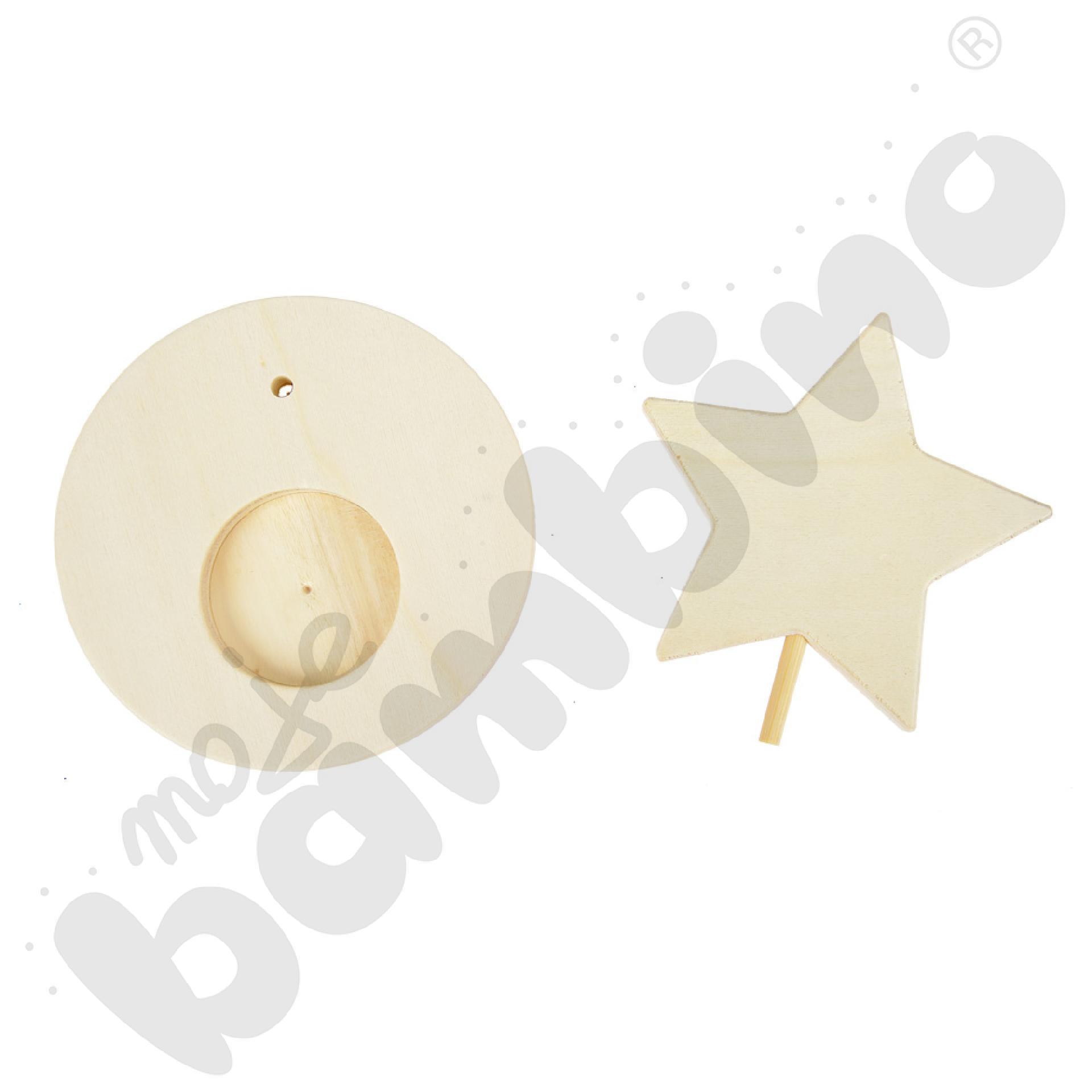 Drewniany świecznik z gwiazdką