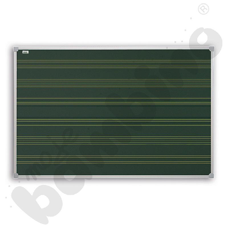 Tablica szkolna pojedyncza zielona w pieciolinię
