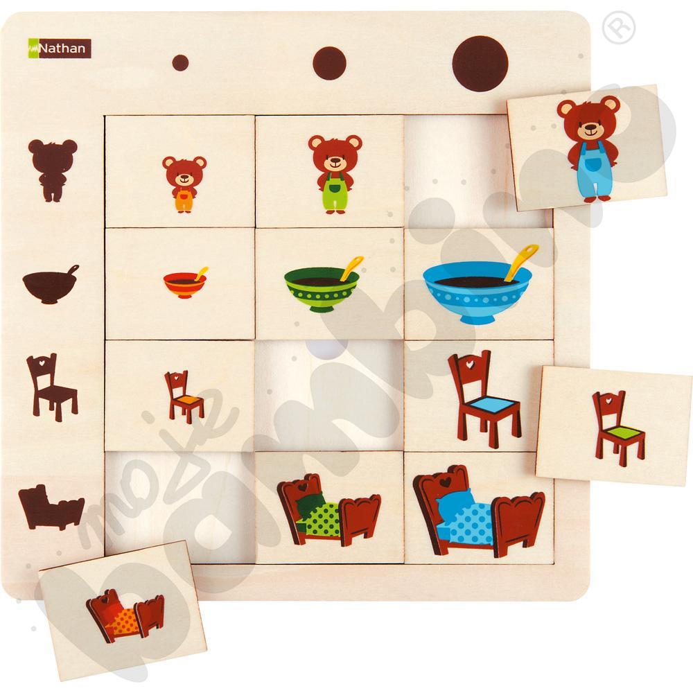Logiczne puzzle Rozmiary