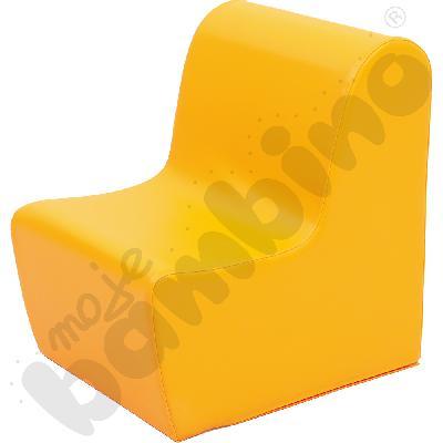 Duży fotelik pomarańczowy