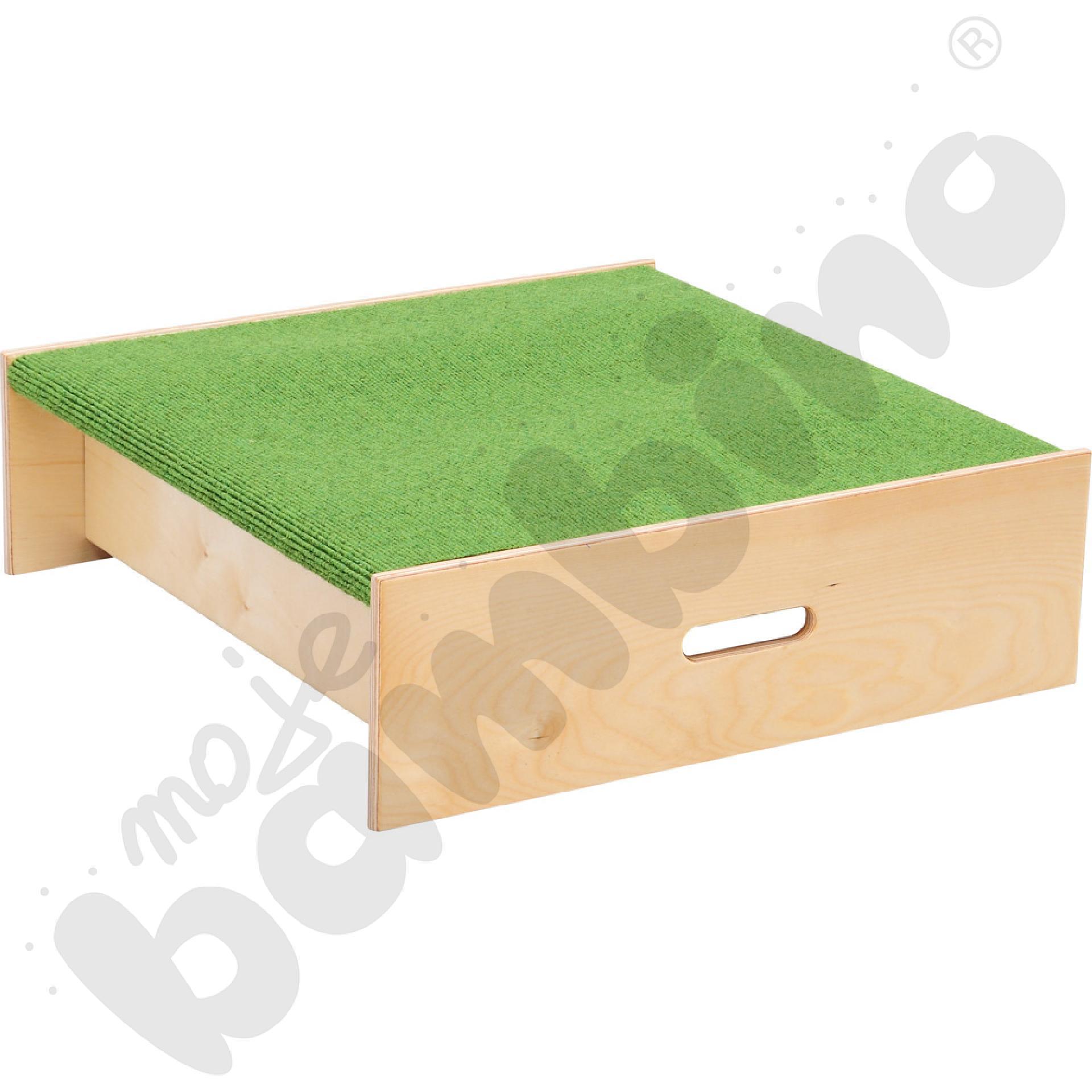 Podest kwadrat - wys. 20 cm zielony