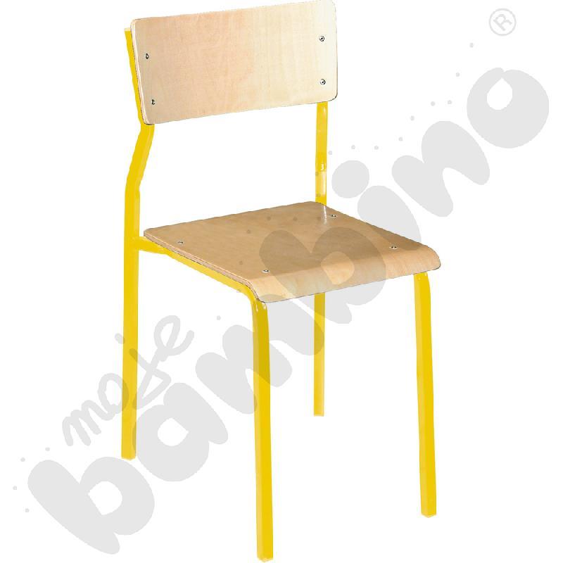 Krzesło B rozm. 4 żółte