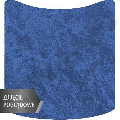Cichy stół Plus falisty mały, 70 x 72 cm, zaokrąglone narożniki, rozm. 2 - niebieski