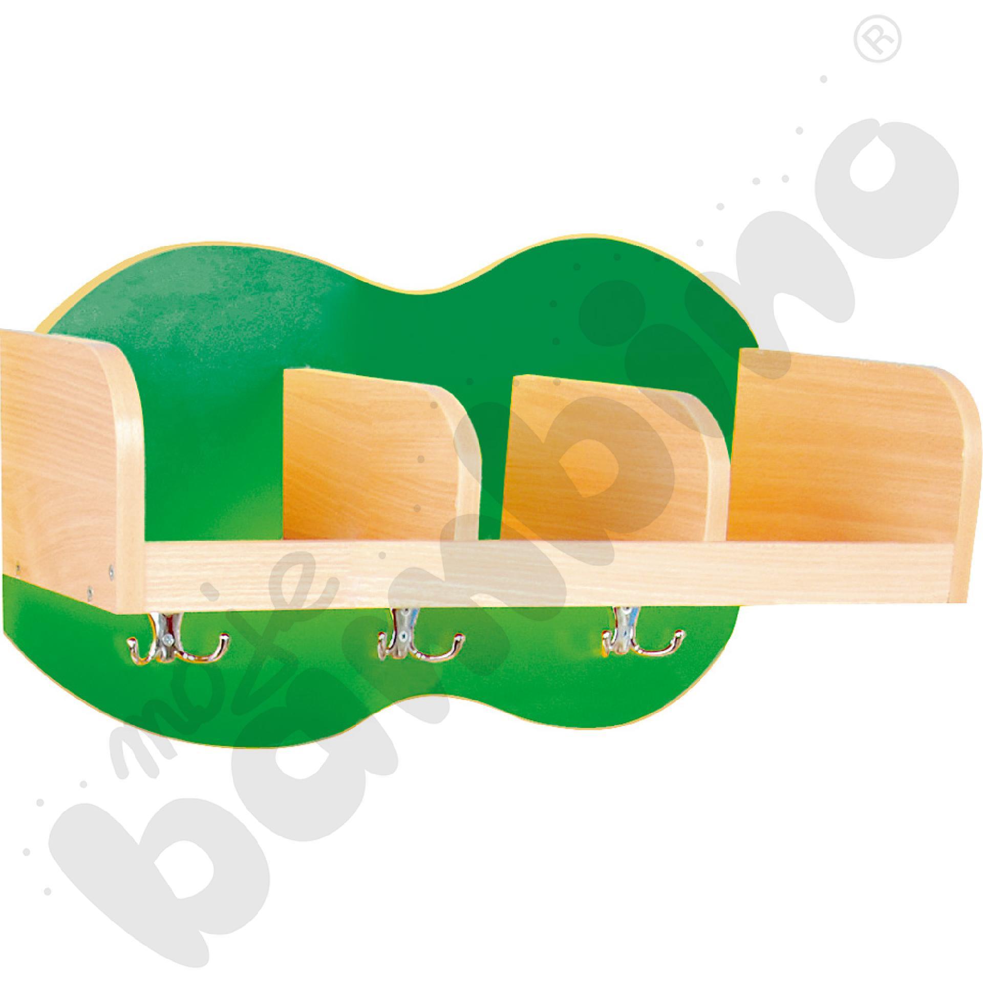 Szatnia półka Chmurka 3 - zielona