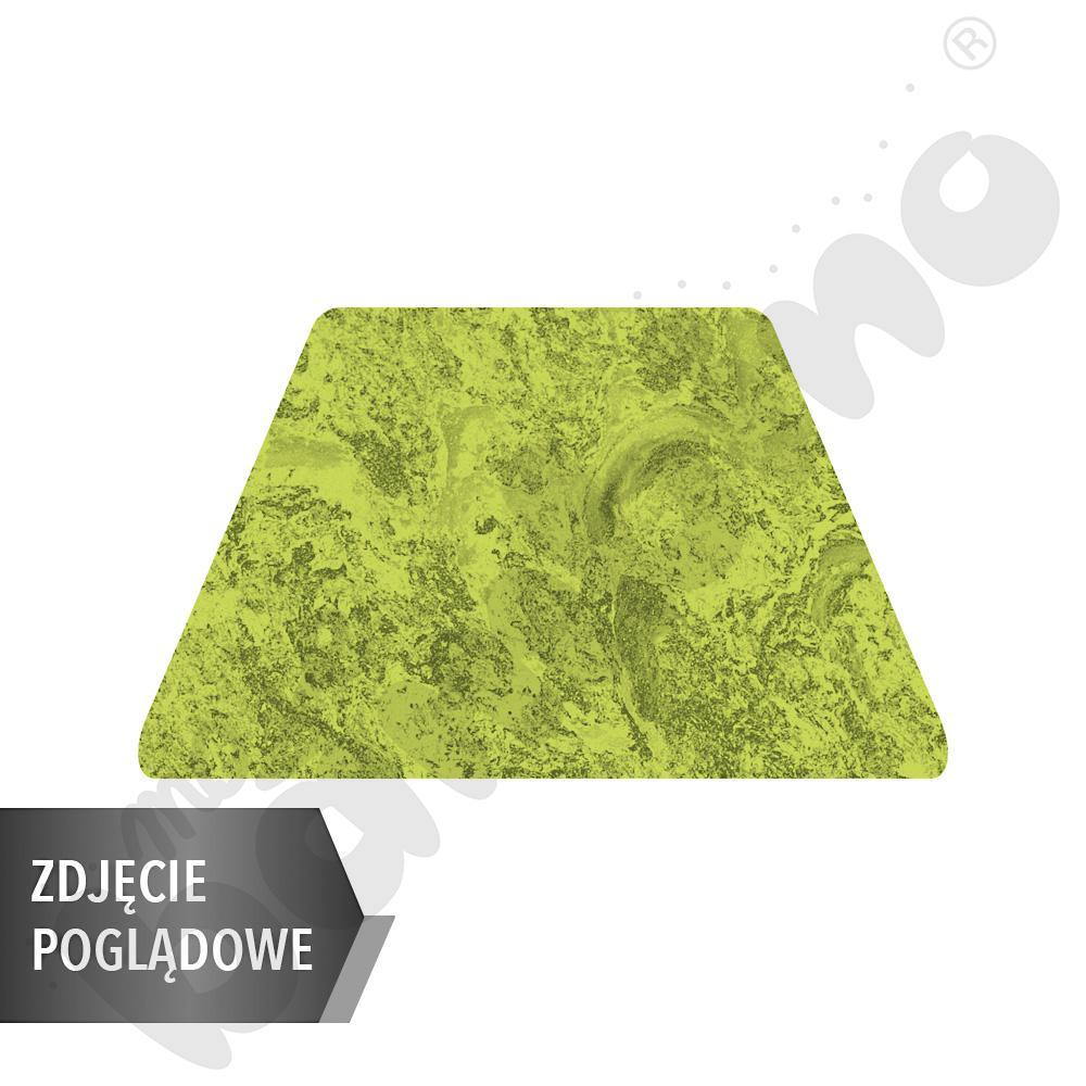 Cichy stół Plus trapezowy, 140 x 70 x 80 x 70 cm, zaokrąglone narożniki, rozm. 5 - zielony