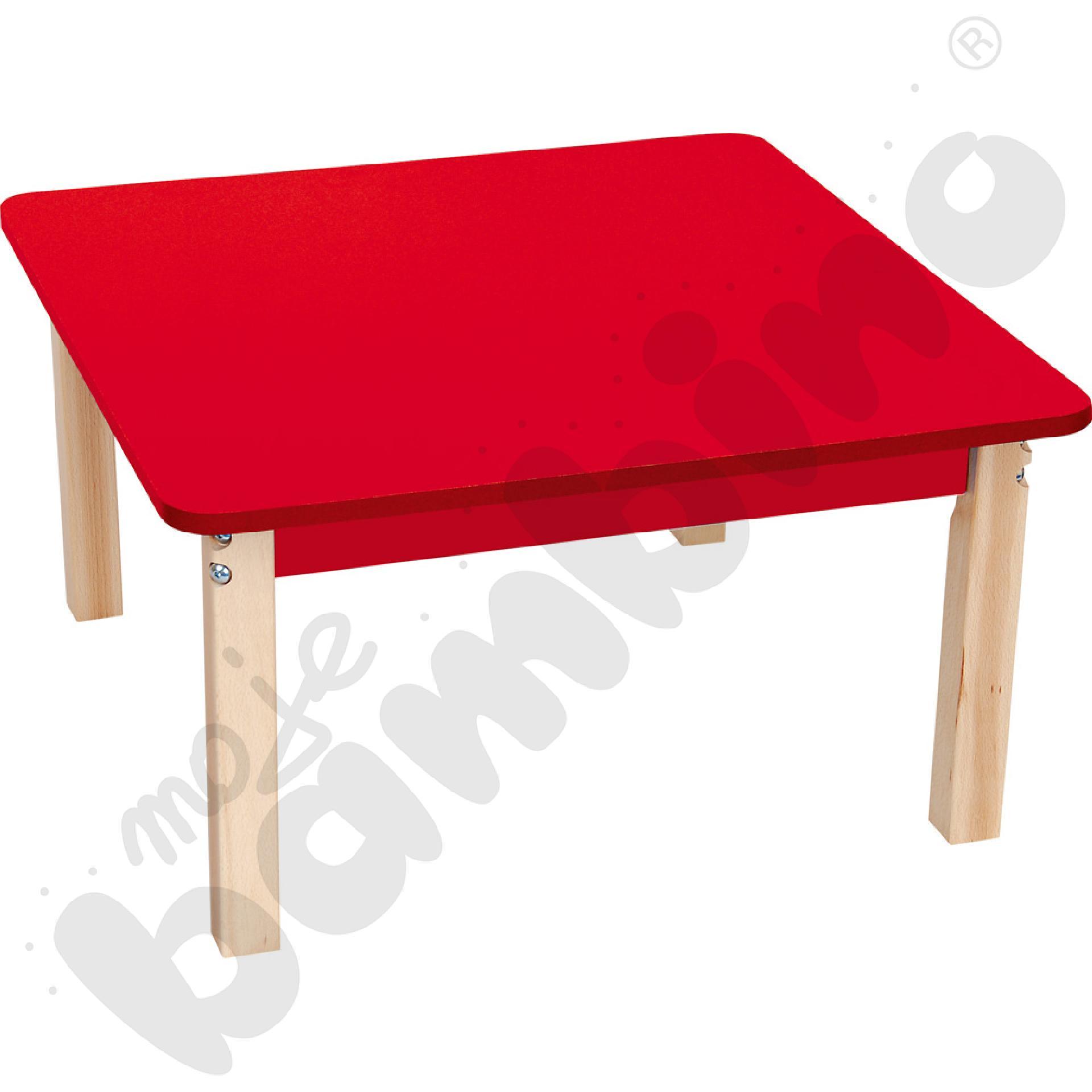 Blat kwadratowy czerwony