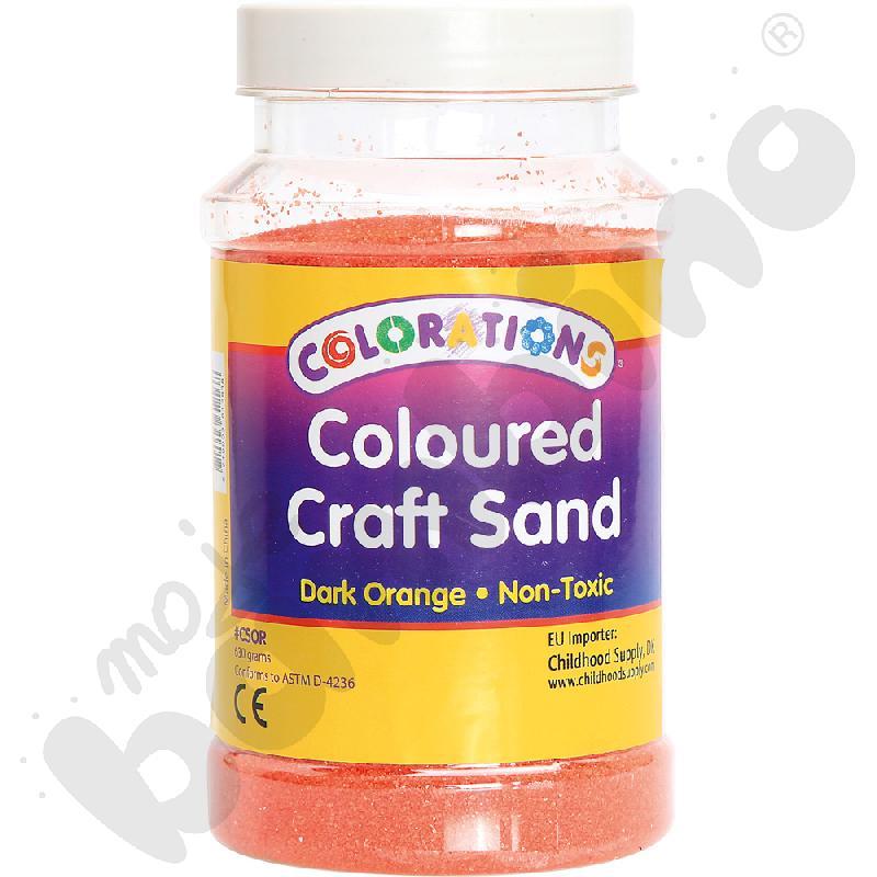 Tęczowy piasek - ciemnopomarańczowy