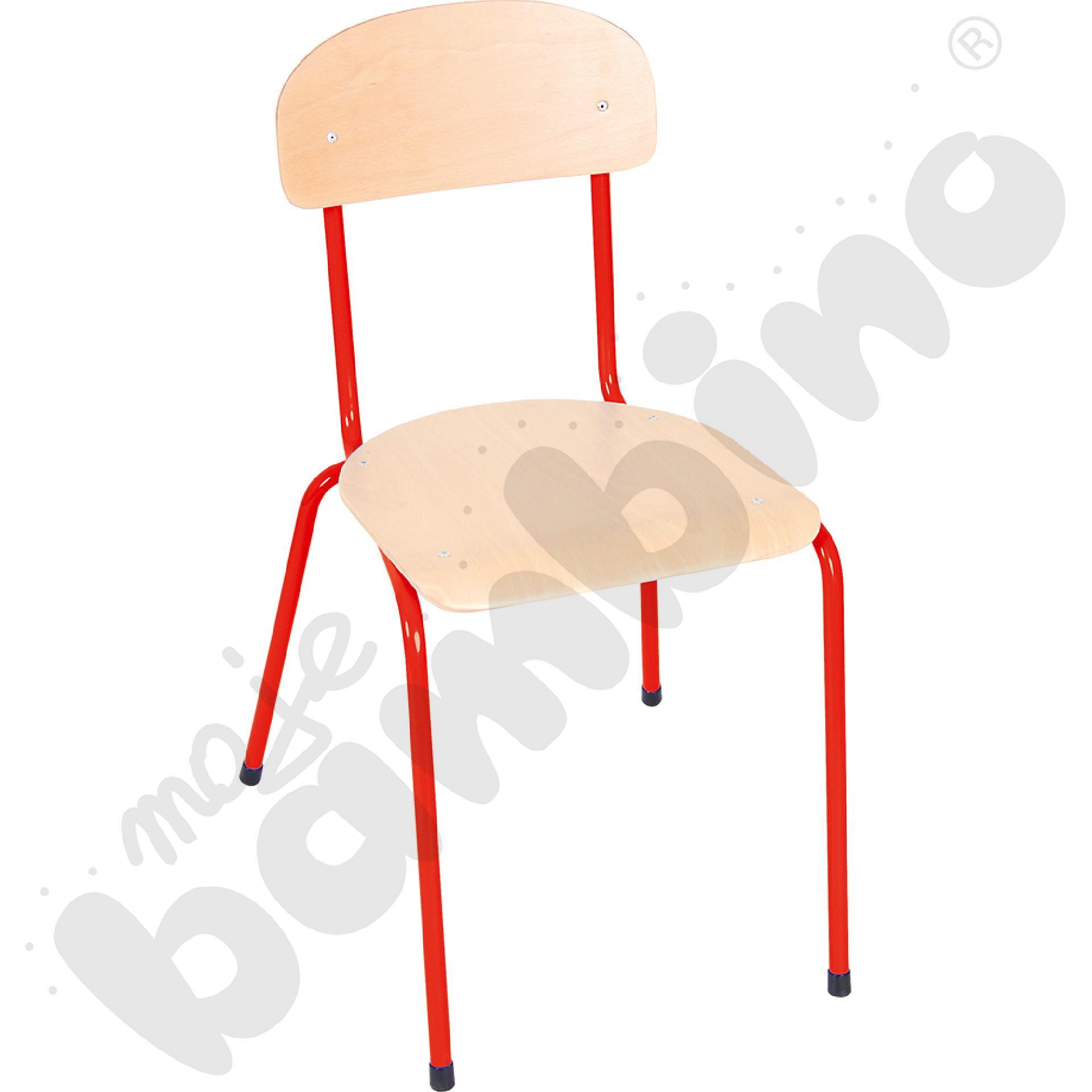 Krzesło Bambino rozm. 6 czerwone
