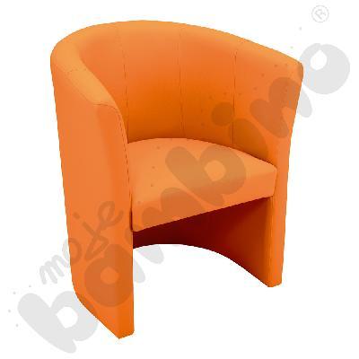 Fotel Club pomarańczowy