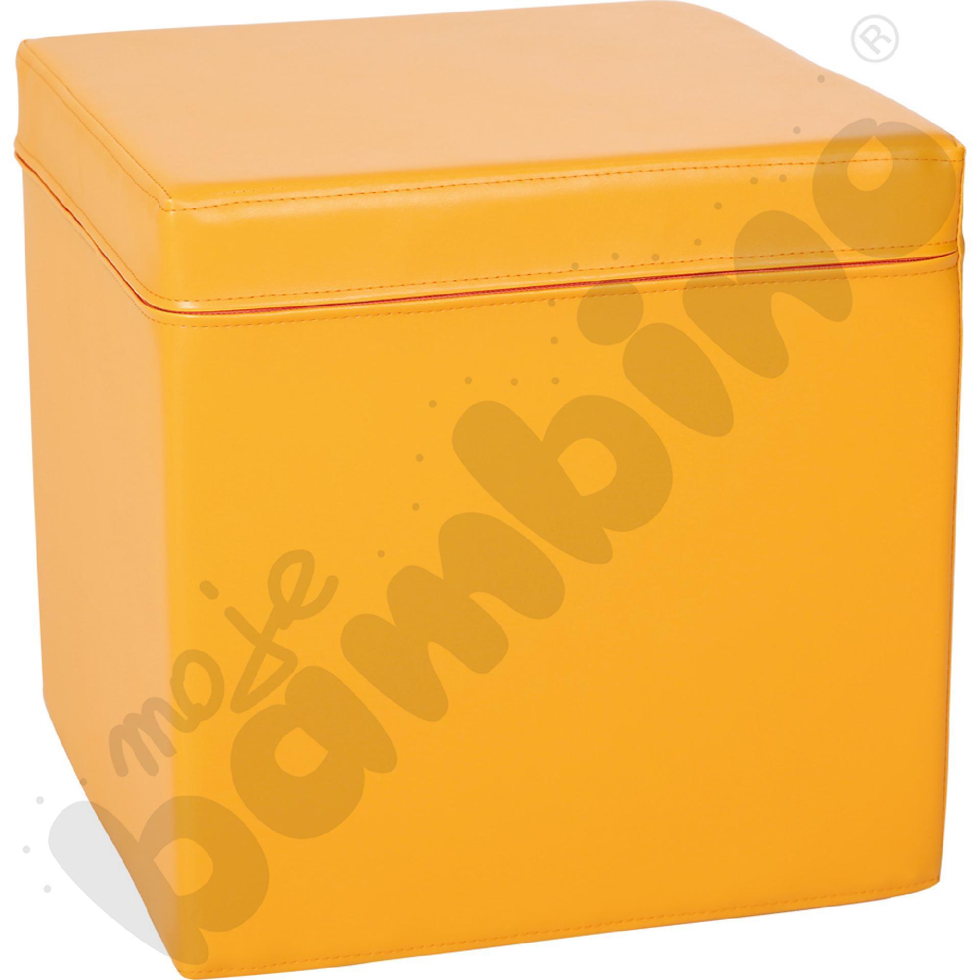 Kostka świetlicowa pomarańczowa, wys. 35 cm