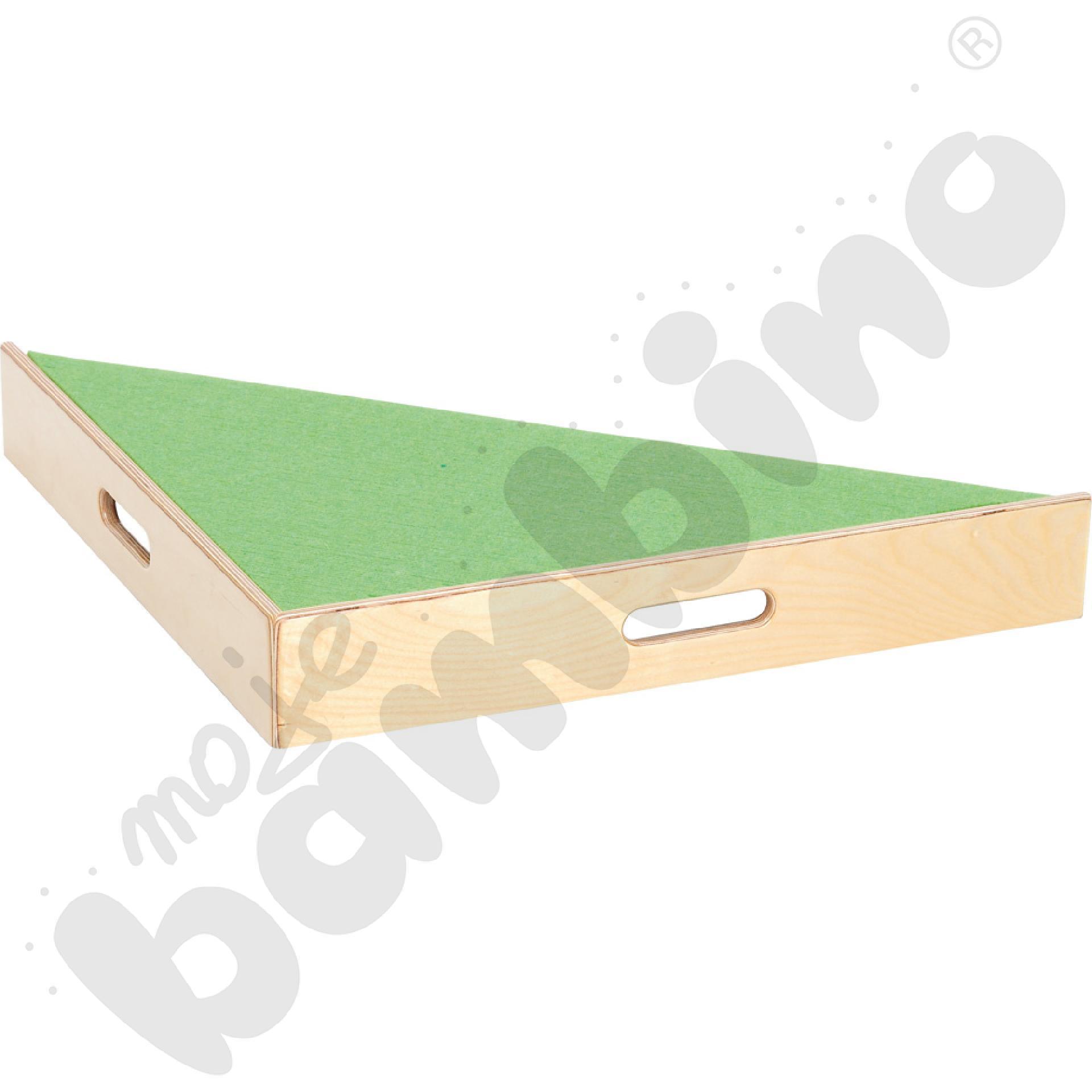 Podest trójkątny - wys.  10 cm jasnozielony