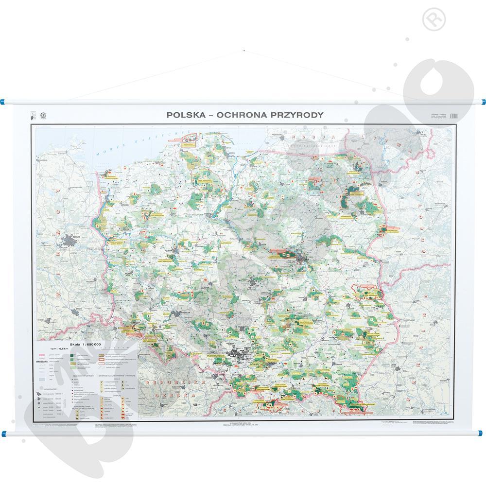 Ochrona przyrody w Polsce - mapa