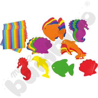 Papierowe zwierzaki morskie