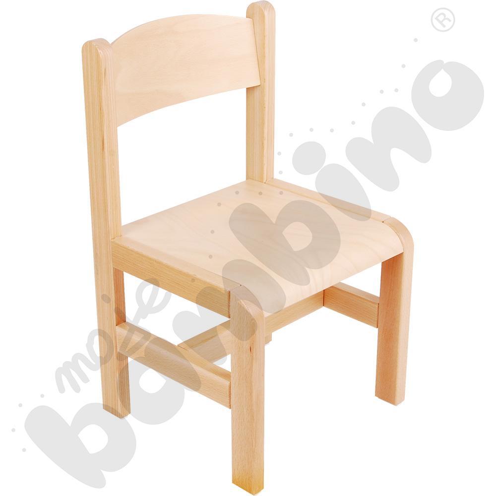 Krzesło drewniane bukowe ze stopką filcową rozm. 3
