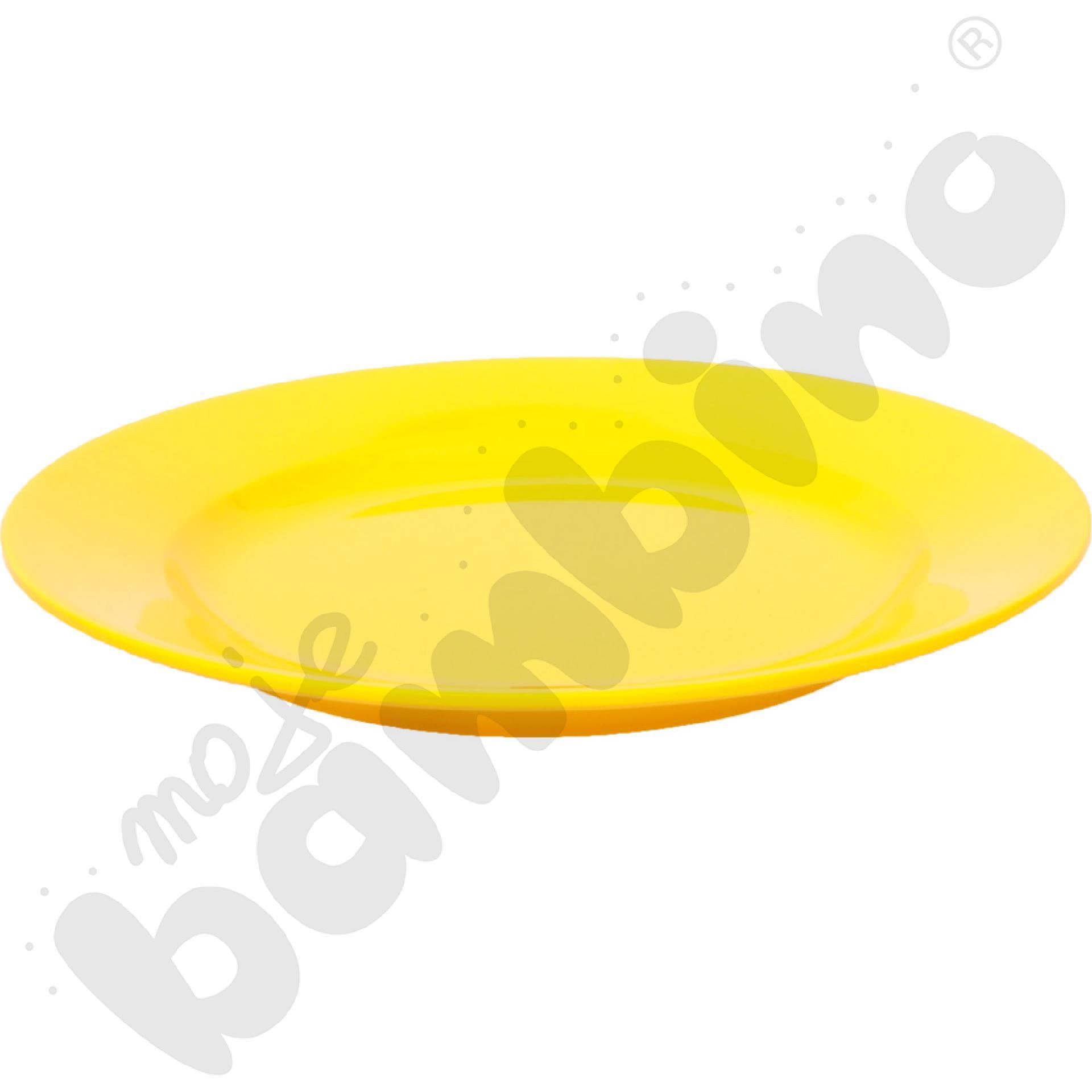 Płytki talerz 23 cm - żółty
