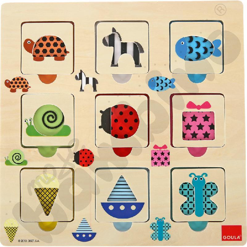 Transparentno-fakturowe puzzle