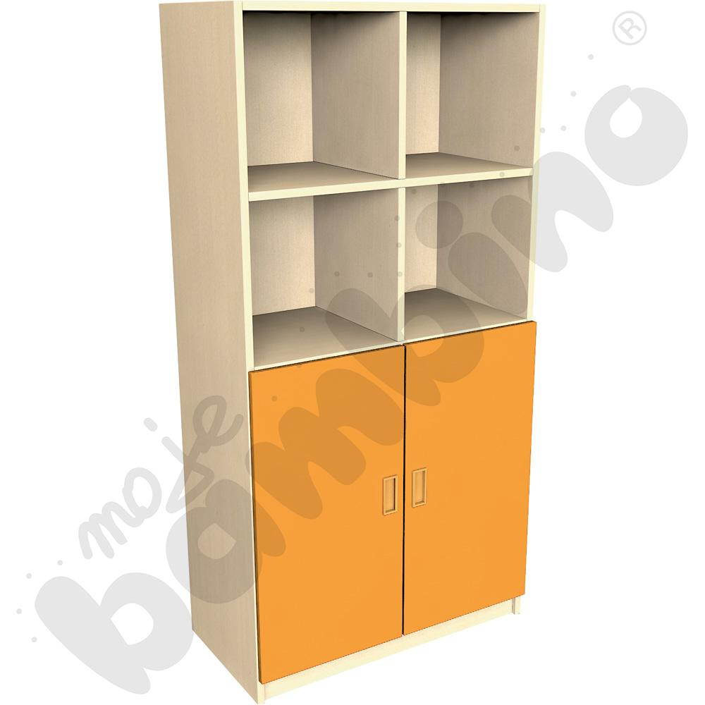 Drzwi duże do regału - pomarańczowe