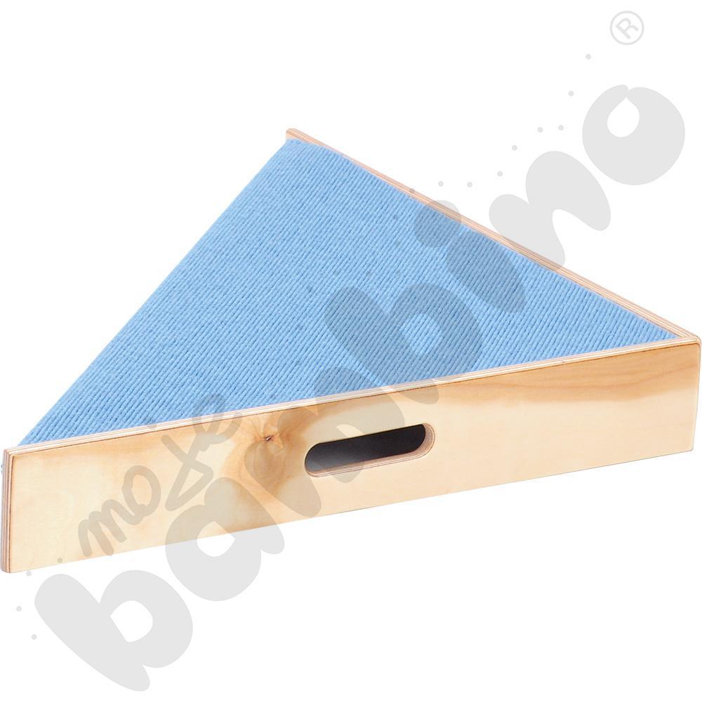 Podest trójkątny - wys. 10 cm jasnoniebieski