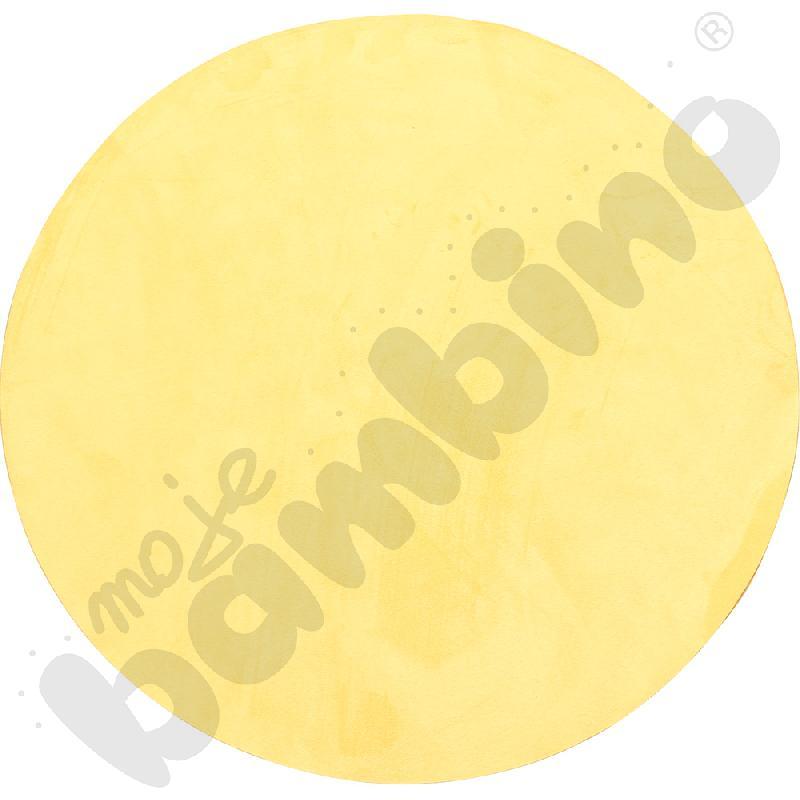 Magnetyczna tapeta koło - żółta