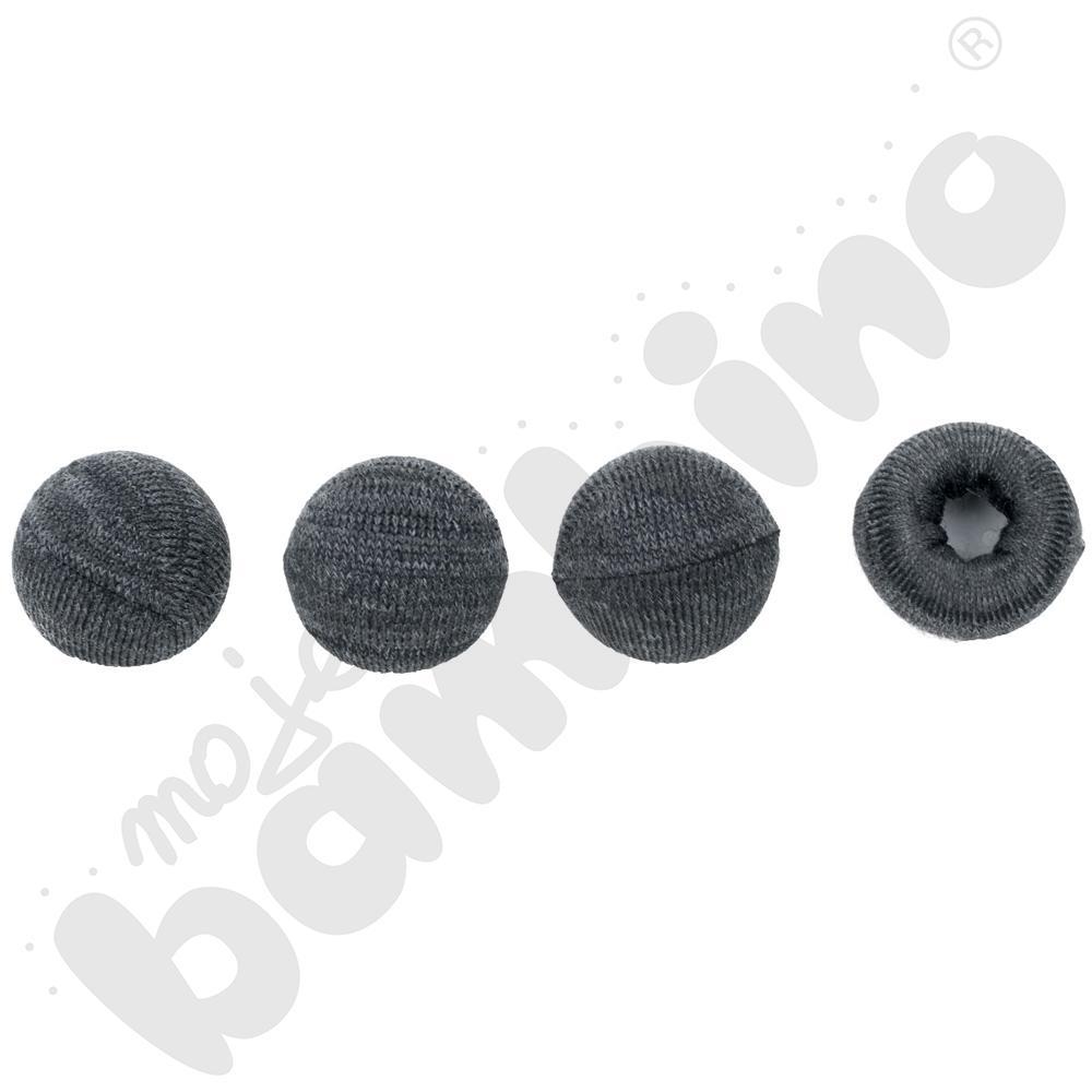 Nakładki dzianinowe do krzeseł - grafitowe,  100 szt., 20-27 mm