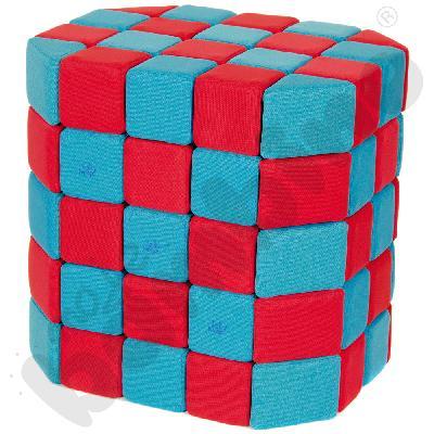 Zestaw klocków JollyHeap - niebiesko-czerwone, 100 szt.