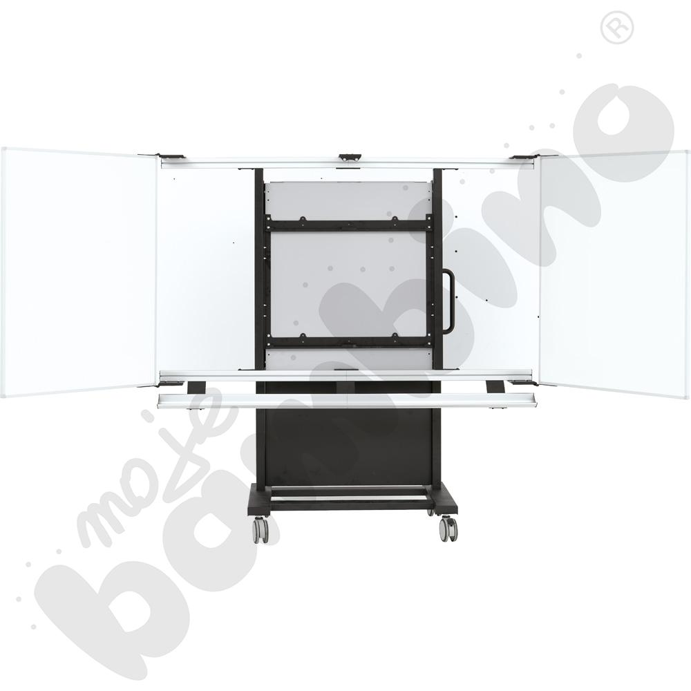 Statyw z windą i tablicami do monitora interaktywnego 75