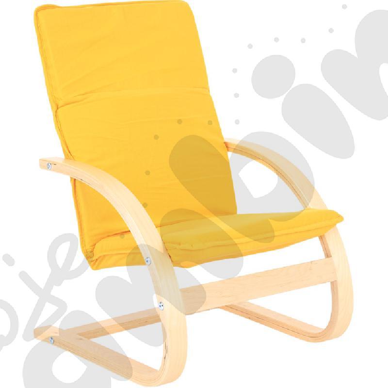 Mały fotelik - żółty