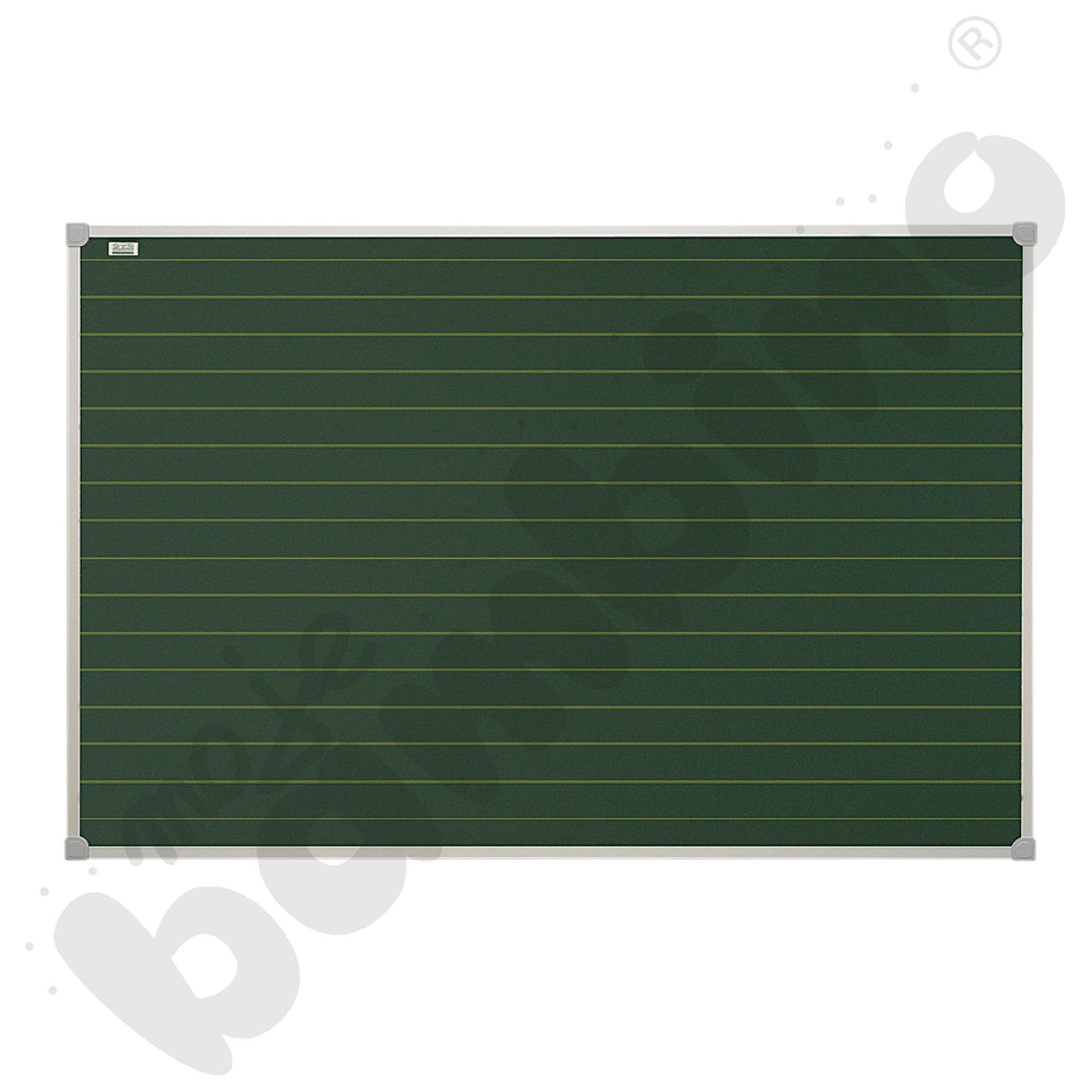 Tablica szkolna pojedyncza zielona w linie